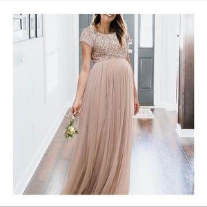 Maternity Maxi Tulle Dress